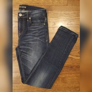 Express Jeans Dark Wash Skinny Midrise Jeans 2